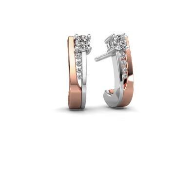 Foto van Oorbellen Jewell 585 rosé goud diamant 0.218 crt