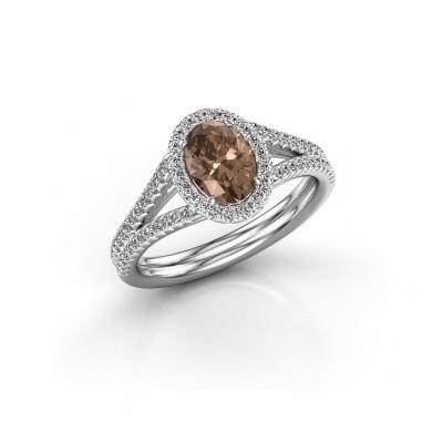 Engagement ring Rachele 2 925 silver brown diamond 1.174 crt