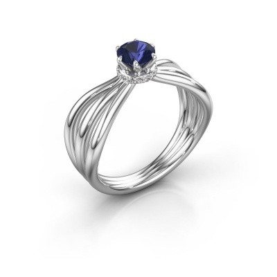 Engagement ring Kimi 585 white gold sapphire 5 mm