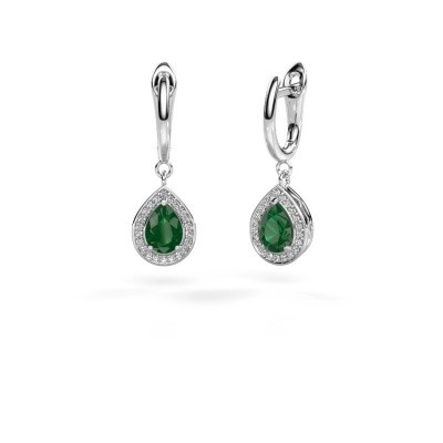 Picture of Drop earrings Ginger 1 950 platinum emerald 7x5 mm