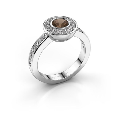 Ring Ivy 585 Weißgold Rauchquarz 5 mm