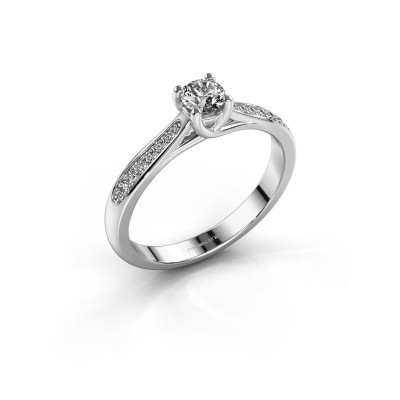 Photo de Bague de fiançailles Mia 2 585 or blanc diamant 0.30 crt