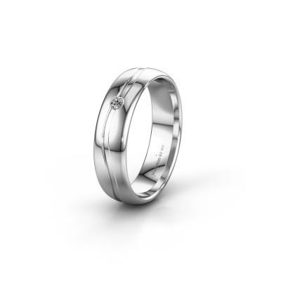Trouwring WH0905L35X 925 zilver diamant ±5x1.7 mm