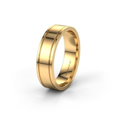 Wedding ring WH0600M16AP 585 gold ±6x1.7 mm