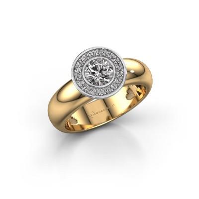Bild von Steckring Anna 585 Gold Diamant 0.635 crt