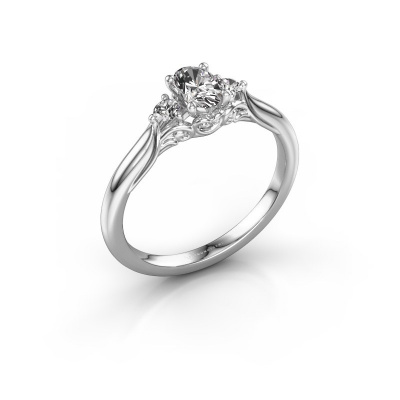Foto van Verlovingsring Laurian OVL 585 witgoud diamant 0.900 crt