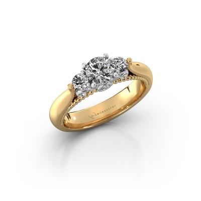 Foto van Verlovingsring Tiffani 585 goud lab-grown diamant 0.74 crt
