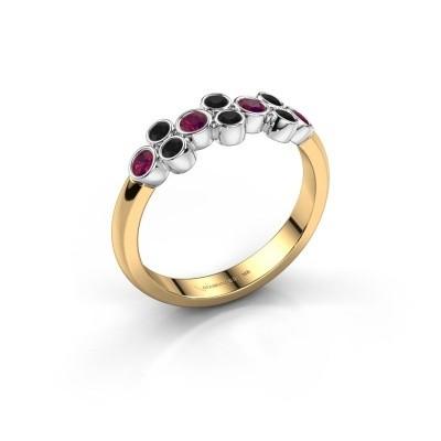 Ring Kayleigh 585 gold rhodolite 2.4 mm