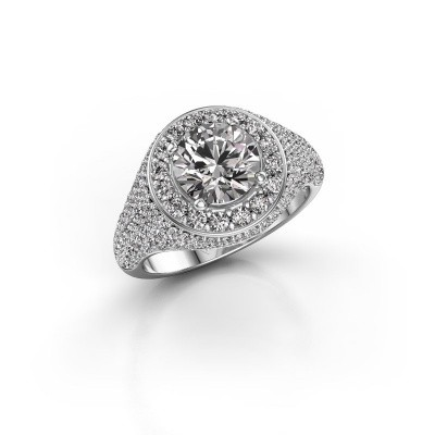 Ring Dayle 585 witgoud diamant 2.463 crt