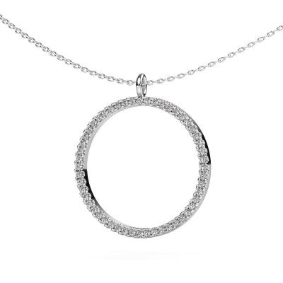 Foto van Hanger Towanda 375 witgoud lab-grown diamant 0.39 crt