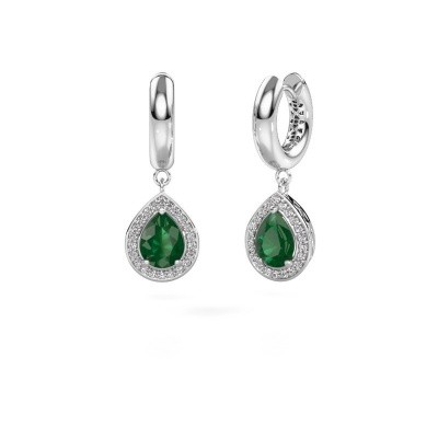 Picture of Drop earrings Barbar 1 585 white gold emerald 8x6 mm