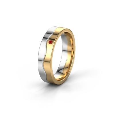 Ehering WH0701L15AP 585 Weißgold Rubin ±5x1.7 mm