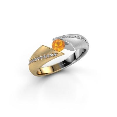 Foto van Ring Hojalien 2 585 goud citrien 4 mm