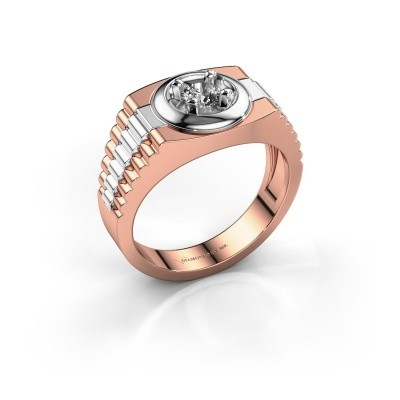 Foto van Heren ring Edward 585 rosé goud zirkonia 4.7 mm