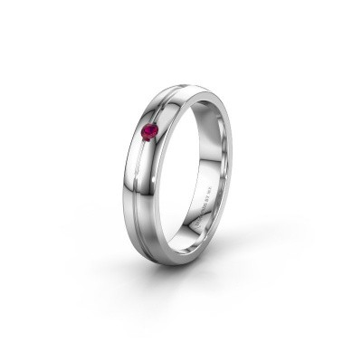 Picture of Wedding ring WH0424L24A 925 silver rhodolite ±4x1.7 mm