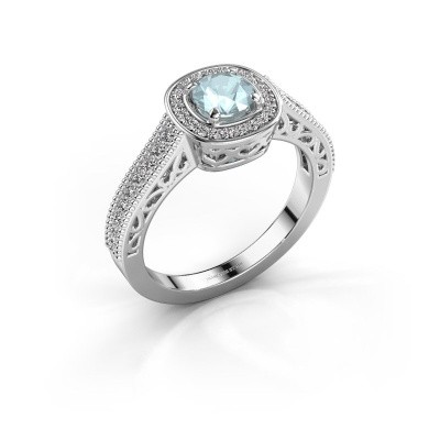 Engagement ring Candi 925 silver aquamarine 5 mm