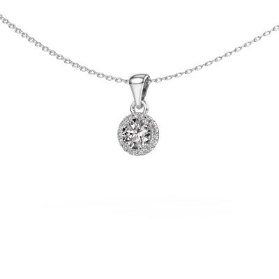 Hanger Seline rnd 925 zilver diamant 0.48 crt