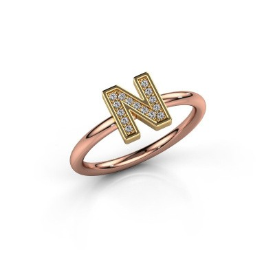 Foto van Ring Initial ring 110 585 rosé goud