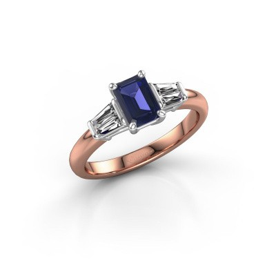 Picture of Engagement ring Kina EME 585 rose gold sapphire 6.5x4.5 mm