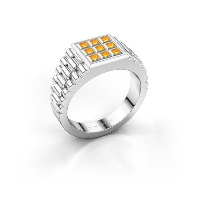 Picture of Men's ring Chavez 585 white gold citrin 2 mm