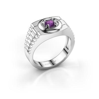 Foto van Rolex stijl ring Edward 585 witgoud amethist 4.7 mm