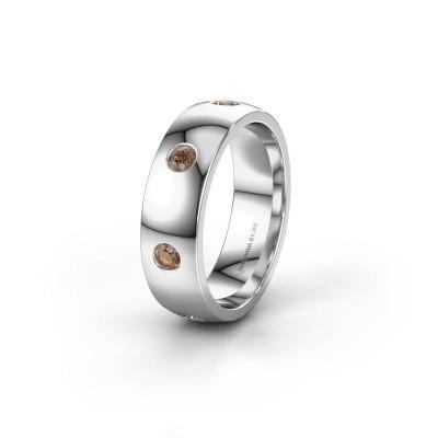 Alliance WH0105L26BP 950 platine diamant brun ±6x2 mm