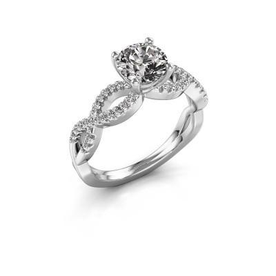 Verlovingsring Hanneke 925 zilver diamant 1.00 crt