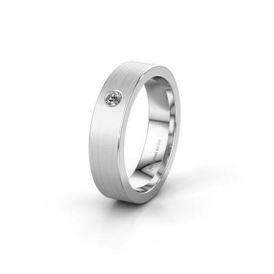 Trouwring WH0101L15BM 375 witgoud diamant ±5x1.5 mm