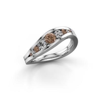 Bild von Ring Sigrid 2 585 Weissgold Braun Diamant 0.594 crt