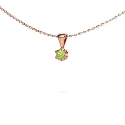 Picture of Necklace Fran 375 rose gold peridot 3.4 mm