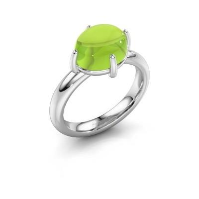 Ring Melodee 925 zilver peridoot 10x8 mm