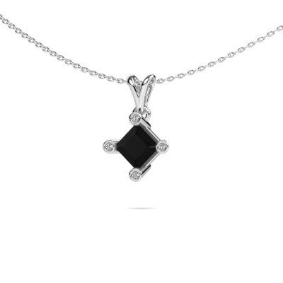Foto van Hanger Cornelia Square 950 platina zwarte diamant 1.58 crt