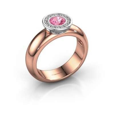 Picture of Stacking ring Anna 585 rose gold pink sapphire 5 mm