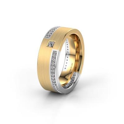 Trouwring WH2048L17DM 585 goud diamant ±7x2.4 mm