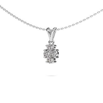Foto van Ketting Richelle 950 platina diamant 0.40 crt