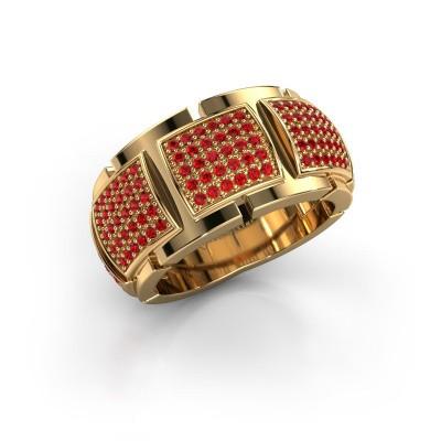 Foto van Ring Laura 375 goud robijn 1 mm