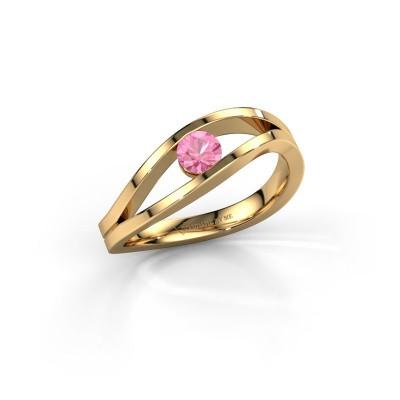 Foto van Ring Sigrid 1 585 goud roze saffier 4 mm