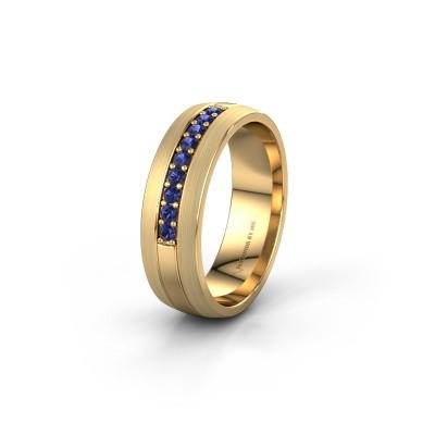 Trouwring WH0413L26APM 585 goud saffier ±6x1.7 mm