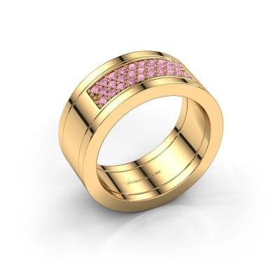 Ring Marita 3 585 gold pink sapphire 1.3 mm
