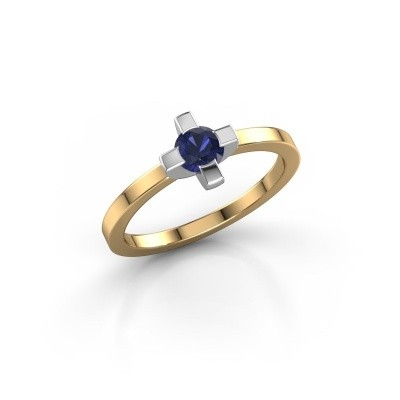 Ring Therese 585 goud saffier 4.2 mm
