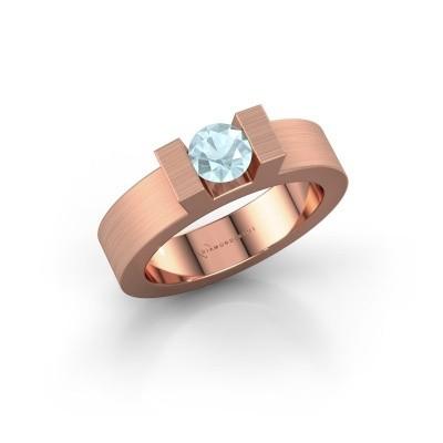 Picture of Ring Leena 1 375 rose gold aquamarine 5 mm
