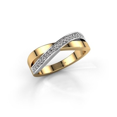 Foto van Ring Kaley 585 goud zirkonia 1.2 mm