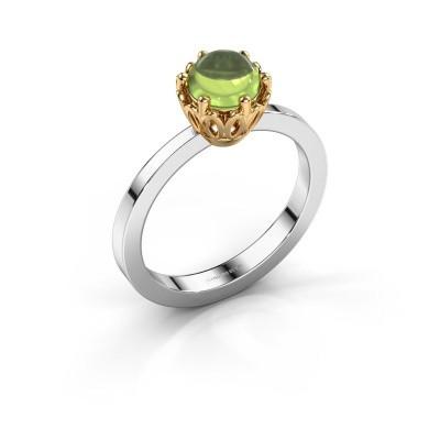 Ring Marly 585 witgoud peridoot 6 mm