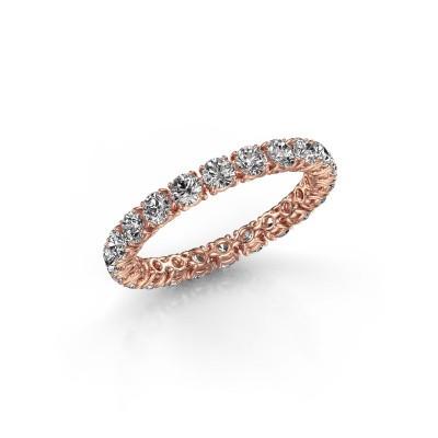 Foto van Ring Vivienne 2.7 375 rosé goud zirkonia 2.7 mm