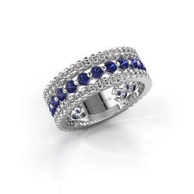 Engagement ring Elizbeth 2 925 silver sapphire 2.4 mm