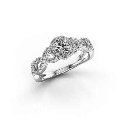 Verlovingsring Dionne rnd 585 witgoud diamant 0.72 crt