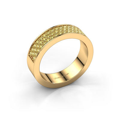 Ring Lindsey 4 585 goud gele saffier 1.3 mm