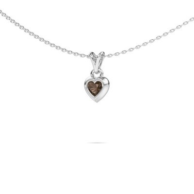 Foto van Hanger Charlotte Heart 375 witgoud rookkwarts 4 mm
