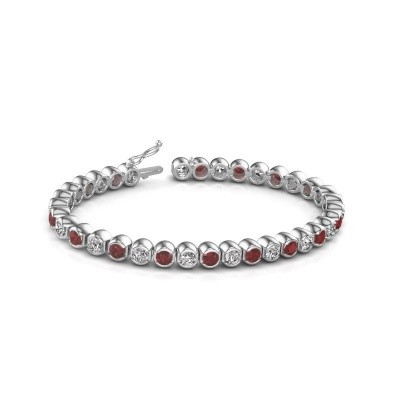 Tennis bracelet Bianca 585 white gold ruby 4 mm