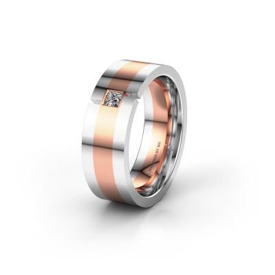 Trouwring WH2042P 585 rosé goud lab-grown diamant ±7x2.4 mm